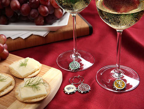Fantasy Wine Glass Markers