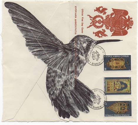 Vintage Avian Envelope Art
