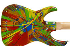 Punky Paint-Splattered Guitars