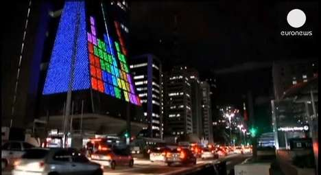 Tetris Covered City Buildings
