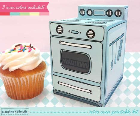Retro Stove Cupcake Boxes