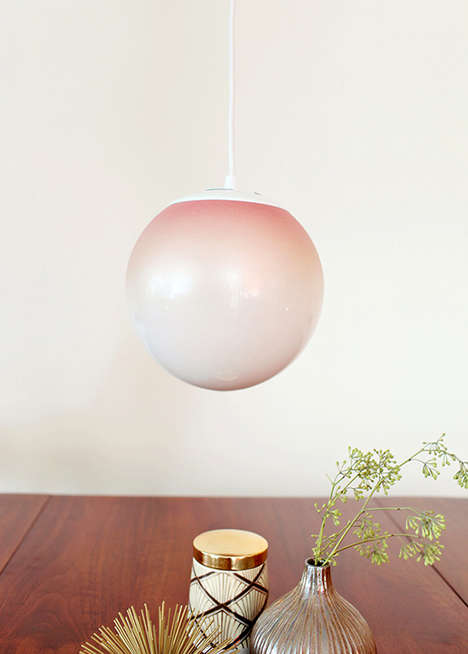 DIY Gradient Lighting - The Ombre Pendant Lamp Adds a Pretty Flair to Living Spaces