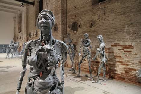 Zombified Humanoid Sculptures