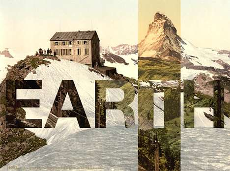 Literal Typography Landscapes