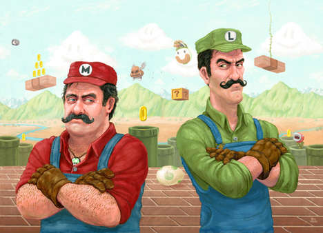 These Realistic Retro Illustrations of the Mario Brothers Are Amazing