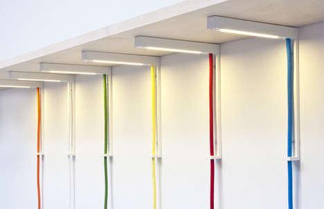 Colored Cord Corner Lamps