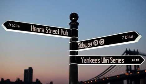 Social Media Street Signs