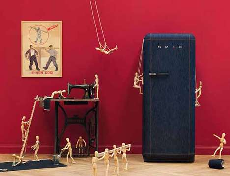 Denim Covered Refrigerators