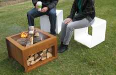 Wood-Storing Bonfire Boxes