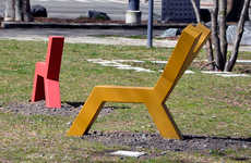 Animal-Inspired Geometric Benches - The Animaux Domesticki Colorful Benches are Shaped Like Animals