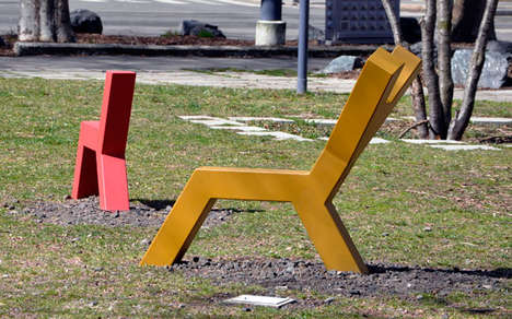Animal-Inspired Geometric Benches