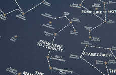 Silver Screen Astrology Charts - These Hollywood Star Charts by Dorothy Map the Golden Age of Film