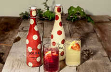 Symbolic Polka Dot Packaging - This Polka Dot Packaging Abstracts Wine-Soaked Fruit