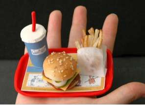 Miniature Edible Fast Food Meal