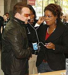 Oprah and Bono Push Products for Charity