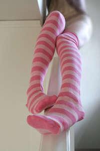 Pink Knee High Socks