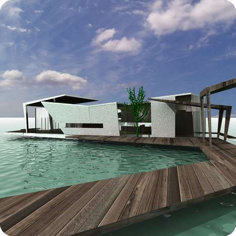 Modern Water Chalets - New Design For Huts on the Water