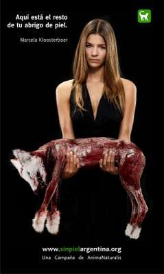 Skinned Animals as Advertising - Skinless Argentina 2008 Shows The Other Part of a Fur Coat