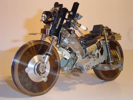Motorbike Concept from Recycled VCR and PC parts