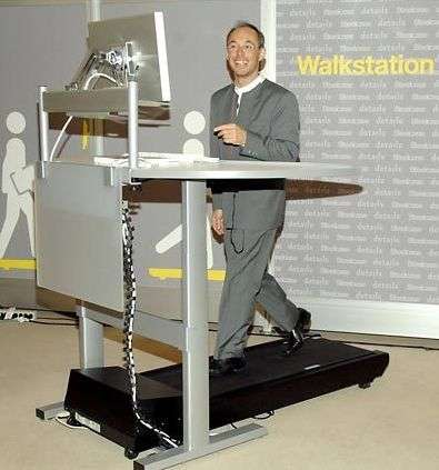 Walking Workstations - The Steelcase Walk Station and The JW Treadmill Desk  (ANIMATION)