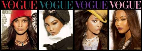 Ethnic Cover Models - All-Black Italian Vogue Revealed