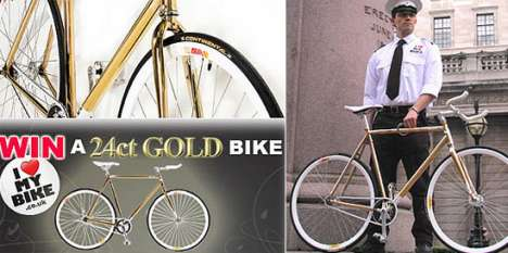 24K Gold Plated Bicycles