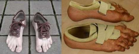 Fake Hairy Toes - The Nike Human Shoes