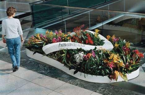 Giant Flip Flop Flower Beds