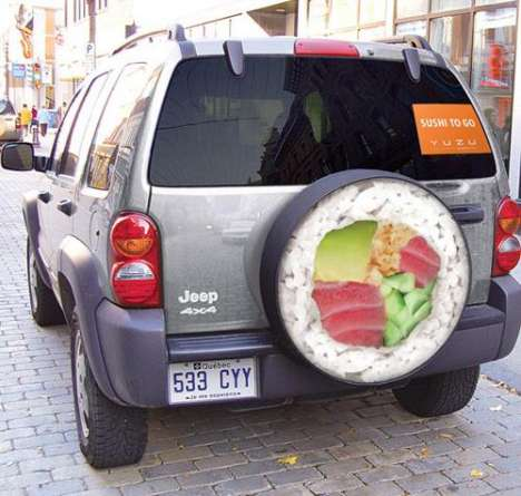 Advertising on Spare Tires