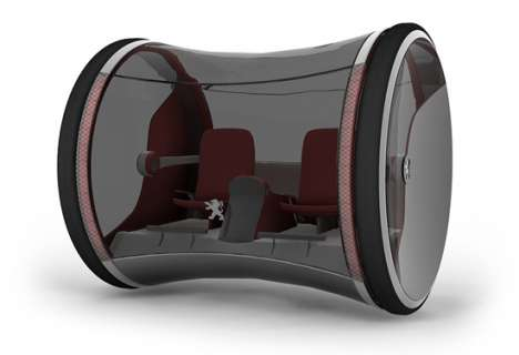 Cylindrical, Hydrogen-Powered Cars