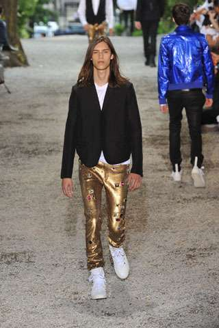 Sequined Gold Pants for Men - Dior Homme Spring Collection
