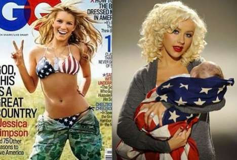 Celebs Wear the American Flag