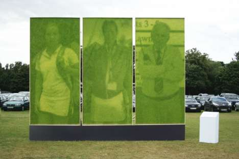 Photos Made of Real Grass - HSBC's Wimbledon Billboards