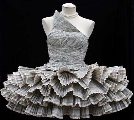 Dresses Made from Phonebooks
