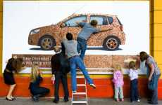Billboards Made of Money - Chevrolet Aveo Penny Billboard Disappears in Minutes