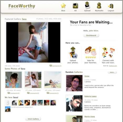 Social Networking for Beautiful People - FaceWorthy