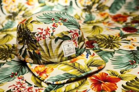 Tropical-Printed Hipster Hats