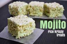Cuban-Inspired Marshmallow Confections - The Mojito Rice Krispie Treats is a Perfect Summer Dessert