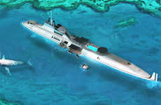 Excessive Luxury Submarines - The 'MIGALOO' Lets You Explore Ocean Depths in Style