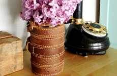 DIY Cowhide Bouquets - Create a Rustic Leather-Wrapped Vase with Common Household Items