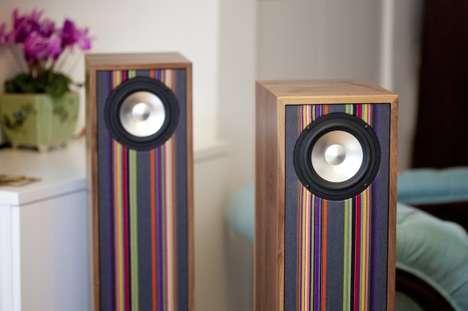Striped Retro Speakers