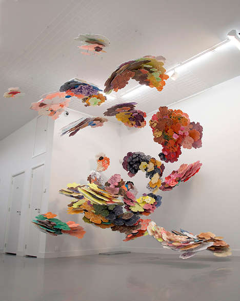 Suspended Cloud Paintings