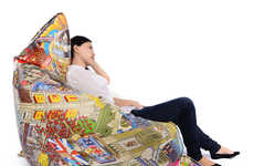 Oversized City-Inspired Seating - The 'Eboy Deluxe Edition' Bean Bag Chairs Feature a London Map
