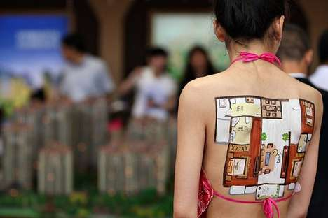 Body Paint Apartment Advertisements
