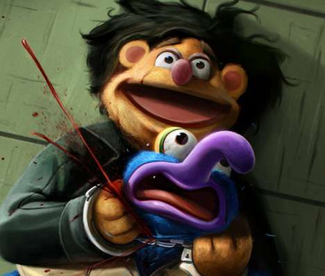 Murderous Puppet Illustrations