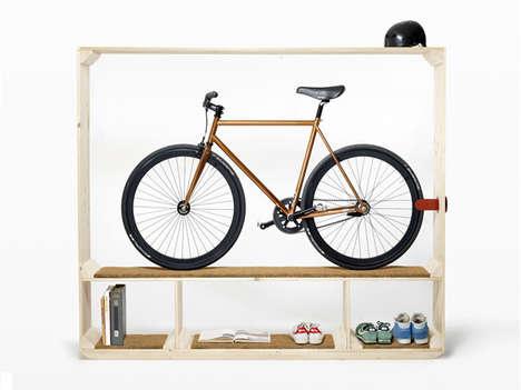 Sleek Cycle-Displaying Shelves