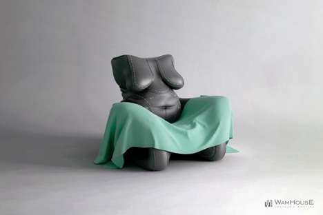 Full-Figured Furniture - The POPRAWIANY Armchair by Wamhouse Plays on Plastic Surgery