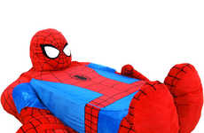 Gigantic Superhero Bed Spreads - The 'Incredibeds Spider-Man Bed Cover' is Interactive and Fun