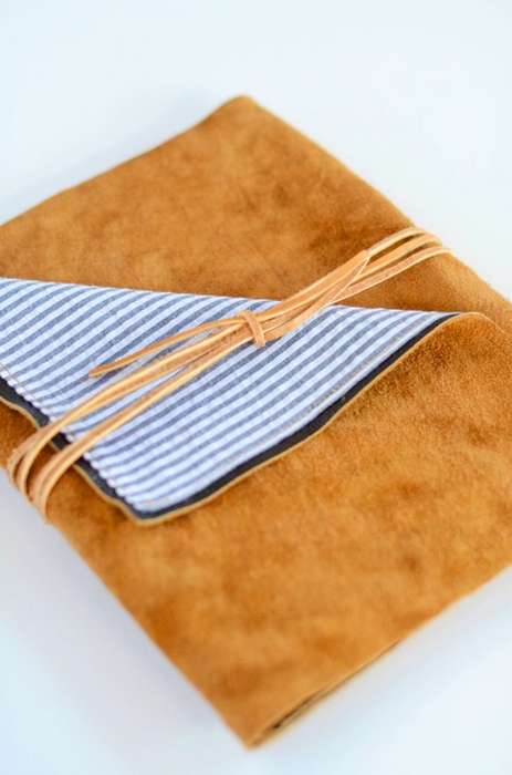 DIY Leather Tablet Cases - This Luxe Leather iPad Wrap is Chic and Easy-to-Make