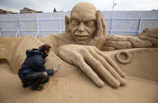 Movie-Themed Sand Sculptures - The Weston Sand Sculpture Festival Showcases Beachy Talent